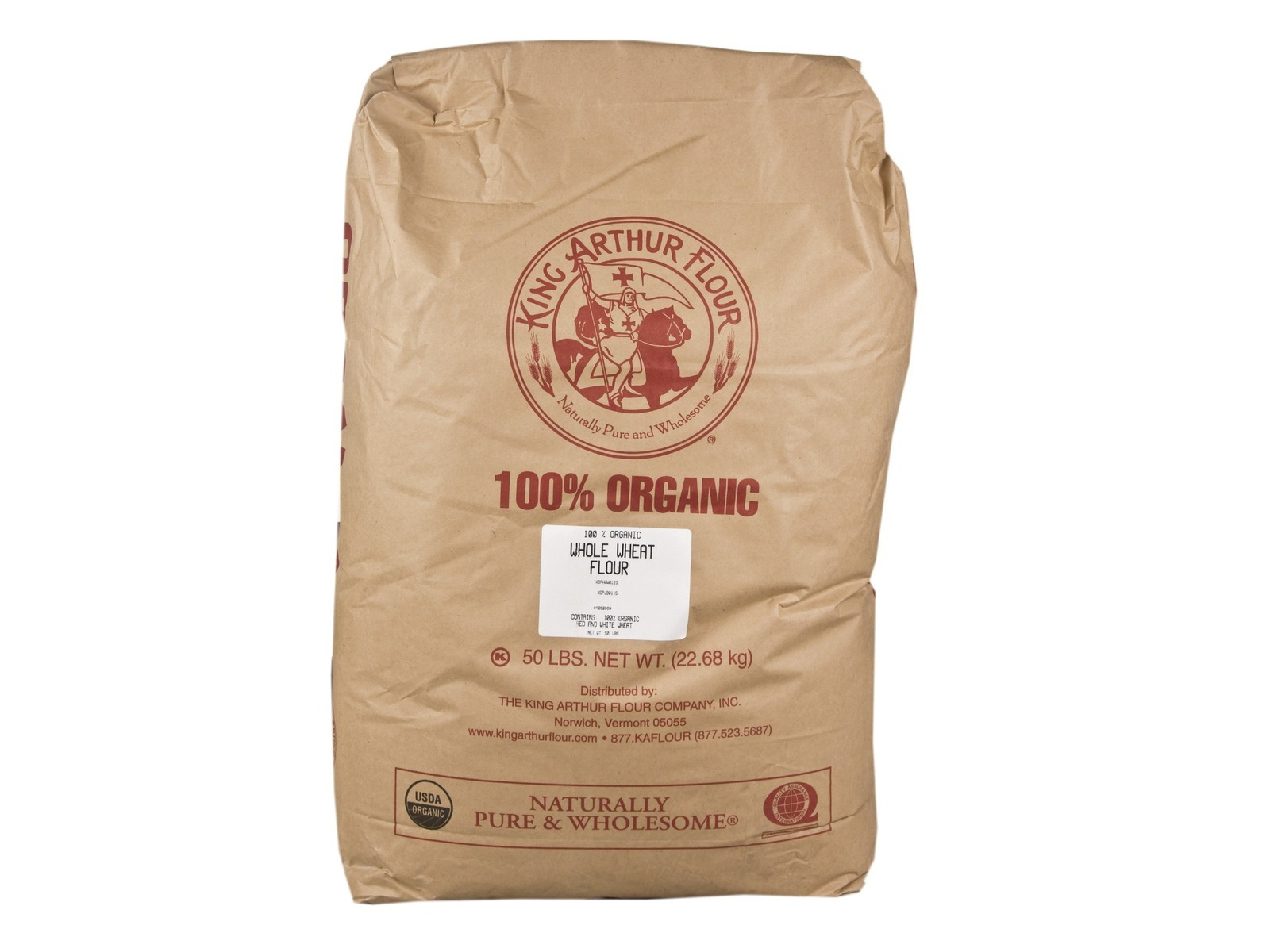Organic Whole Wheat Flour 50lb - BULK - King Arthur | eBay